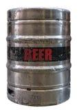 被隔绝的金属啤酒小桶 免版税库存图片