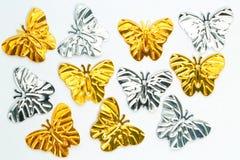 被隔绝的金属蝴蝶 免版税库存图片