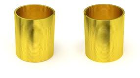 被隔绝的金黄苗条的弹簧 向量例证