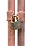 被隔绝的锁住钥匙 库存照片