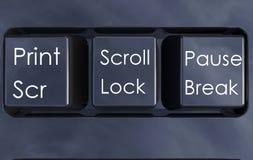 被隔绝的键盘按钮 库存例证