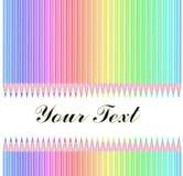 被隔绝的颜色铅笔 免版税库存照片