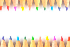 被隔绝的颜色铅笔 库存图片