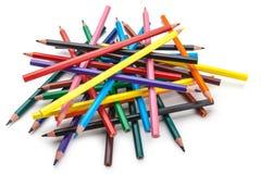 被隔绝的颜色铅笔 免版税图库摄影