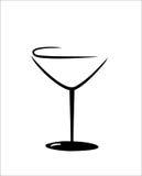 被隔绝的马蒂尼鸡尾酒玻璃 库存图片