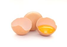 被隔绝的鸡蛋 免版税库存照片