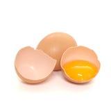 被隔绝的鸡蛋 库存照片