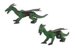 被隔绝的龙玩具照片 库存照片