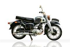 被隔绝的经典摩托车 库存图片