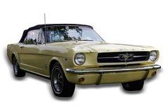 被隔绝的经典肌肉车的Ford Mustang 免版税库存图片