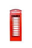 被隔绝的经典英国红色电话亭 免版税库存图片