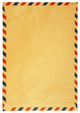 被隔绝的经典葡萄酒信封 免版税图库摄影