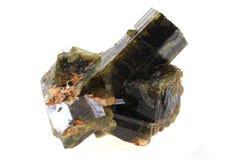 被隔绝的绿帘石矿物 图库摄影