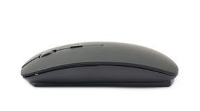 被隔绝的黑无线计算机老鼠 免版税库存照片