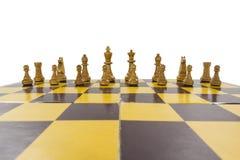 被隔绝的破旧的葡萄酒国际象棋棋局 免版税库存图片
