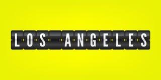 被隔绝的洛杉矶美国市轻碰标志 传染媒介记分牌象例证 加利福尼亚国际机场标志 库存例证