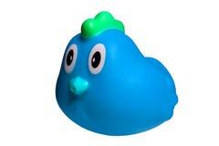 被隔绝的浴的蓝色鸭子 库存图片