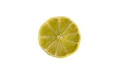 被隔绝的黄色柠檬切片 免版税库存照片