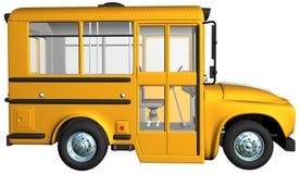 被隔绝的黄色校车例证 免版税库存图片