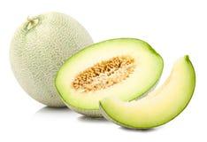 被隔绝的绿色甜瓜瓜 免版税图库摄影