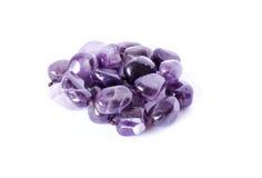被隔绝的紫色的项链 库存照片
