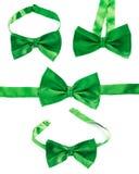 被隔绝的绿色蝶形领结 免版税库存图片