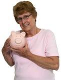 被隔绝的年长退休储款金钱 免版税图库摄影