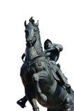 被隔绝的Bartolomeo科莱奥尼雕象 图库摄影