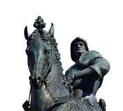 被隔绝的Bartolomeo科莱奥尼雕象 免版税库存图片