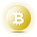 被隔绝的Bitcoin传染媒介 免版税库存照片