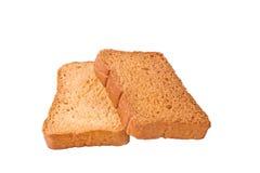 被隔绝的crisly suji或牛奶面包干 免版税库存图片