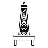 被隔绝的petro塔,向量图形 向量例证