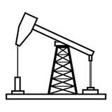 被隔绝的petro油机器,向量图形 皇族释放例证