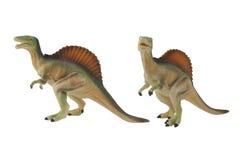 被隔绝的spinosaurus恐龙玩具照片 免版税库存照片