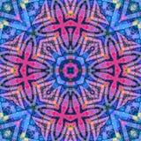 被集中的充满活力的颜色盘旋了花卉无缝的样式 皇族释放例证