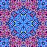 被集中的充满活力的颜色盘旋了花卉设计无缝的样式 库存例证