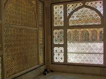 被雕刻的伊斯兰视窗 图库摄影