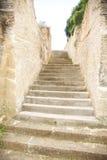 被雕刻的台阶石头 免版税库存照片