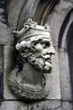 被雕刻的国王 库存照片
