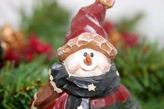 被雕刻的圣诞节雪人 免版税库存照片