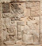 被雕刻的墨西哥老替补石头 免版税库存照片