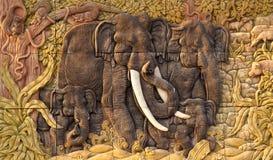 被雕刻的大象 图库摄影