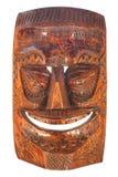被雕刻的屏蔽tiki木头 库存图片