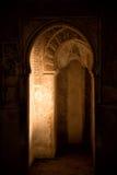 被雕刻的拱道在阿尔罕布拉宫,格拉纳达 免版税图库摄影