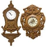 被雕刻的时钟 免版税图库摄影