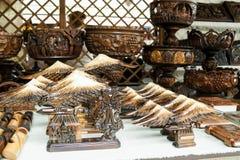 被雕刻的木制品 库存图片