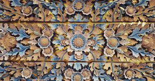 被雕刻的木装饰 库存照片