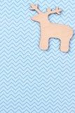 被雕刻的木鹿,顶视图 免版税图库摄影