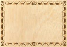 被雕刻的框架木头 库存图片