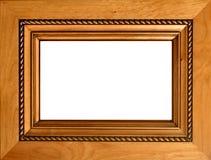 被雕刻的框架木头 免版税图库摄影